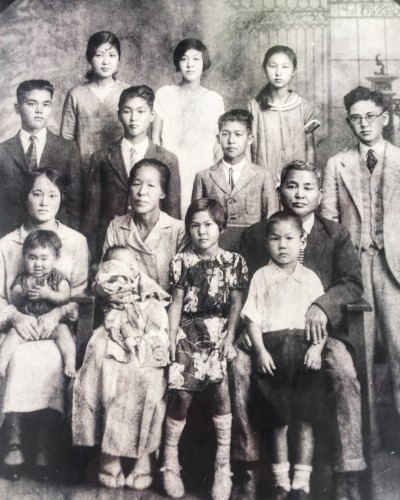 Family members of The Kimura Lauhala Shop, originally named Kimura Store where the stroll begins.